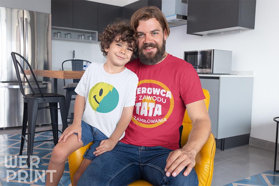 """""""Kierowca z zawodu, tata z zamiłowania"""" - Koszulki dla kierowcy tira Weprint"""