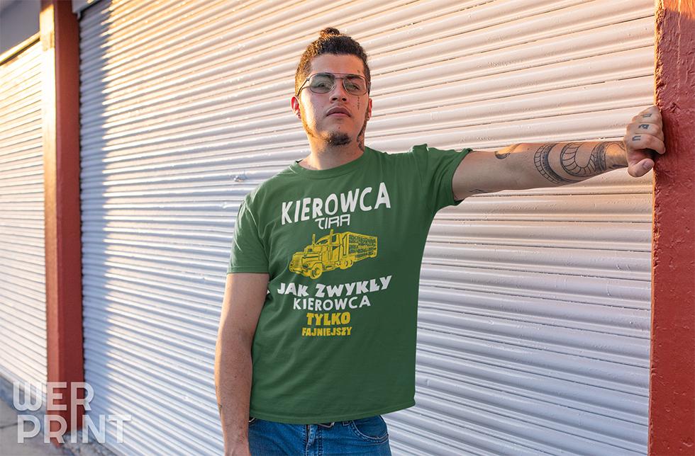 """""""Małe przechwałki dla chłopców z dużych samochodów"""" - Koszulki dla kierowcy tira Werprint"""