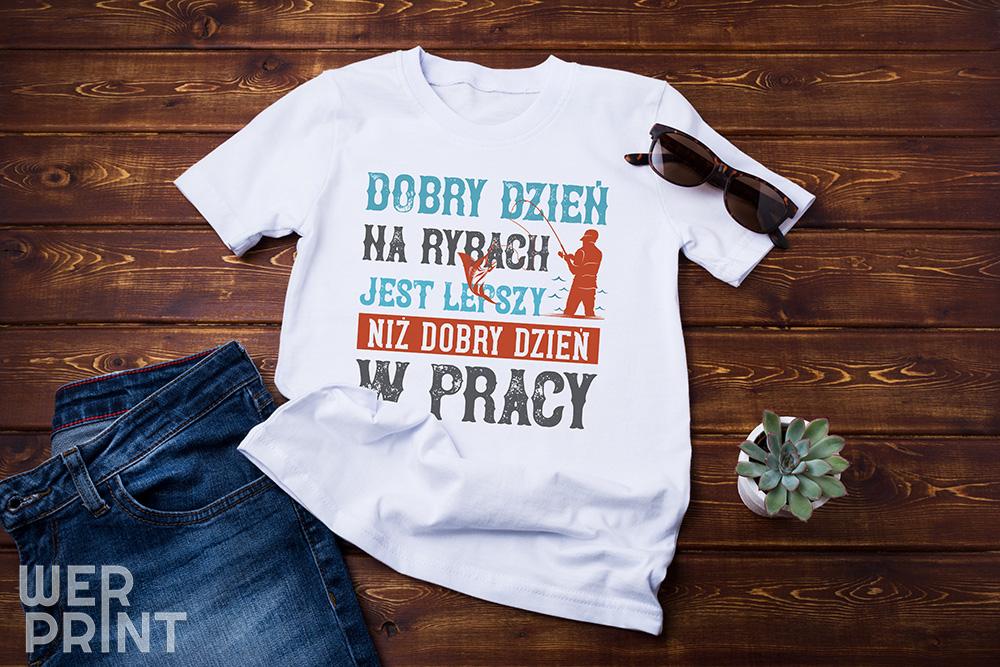 """Koszulka """"Wędkarze wiedzą, co dobre"""" - Koszulki wędkarskie"""