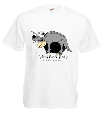 Czy tylko wilki w owczej skórze chodzą? - Koszulka z nadrukiem - Śmieszne - Męska