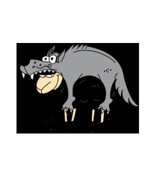 Czy tylko wilki w owczej skorze chodza grafika na bluze meska 204