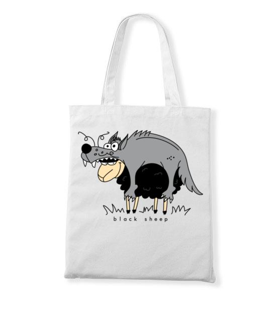 Czy tylko wilki w owczej skorze chodza torba z nadrukiem smieszne gadzety werprint 204 161