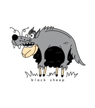 Czy tylko wilki w owczej skorze chodza grafika na poduszke 204