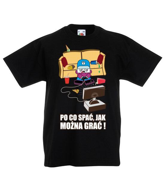 Po co spac jak mozna grac koszulka z nadrukiem nasze podworko dziecko werprint 211 82