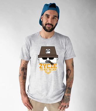 Życie to nie bajka - Koszulka z nadrukiem - Nasze podwórko - Męska