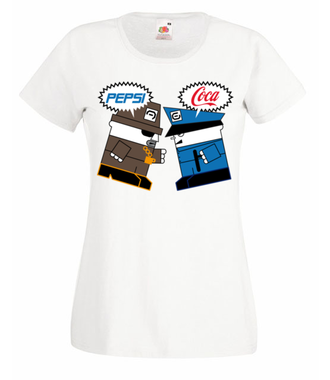 Pepsi piją lepsi? - Koszulka z nadrukiem - Nasze podwórko - Damska
