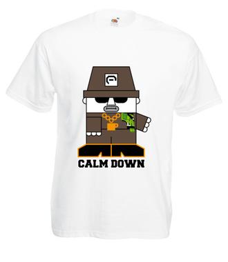 Uspokój się, jesteś bezpieczny - Koszulka z nadrukiem - Nasze podwórko - Męska