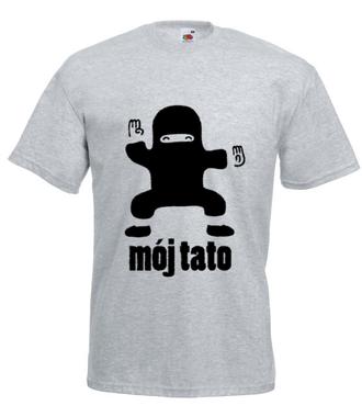 Ninja-tata. Mój Bohater. - Koszulka z nadrukiem - Dla Taty - Męska