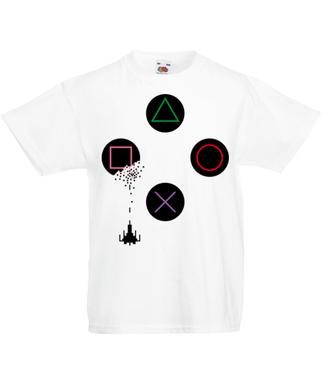 Trafiony – zatopiony! - Koszulka z nadrukiem - dla Gracza - Dziecięca