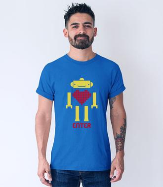 Odnajdź klucz do jego serca - Koszulka z nadrukiem - na Walentynki - Męska