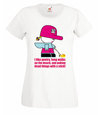 Bo ja wiele rzeczy lubię... - Koszulka z nadrukiem - Nasze podwórko - Damska