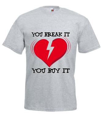 Nie pękaj - ja Cię kocham! - Koszulka z nadrukiem - na Walentynki - Męska