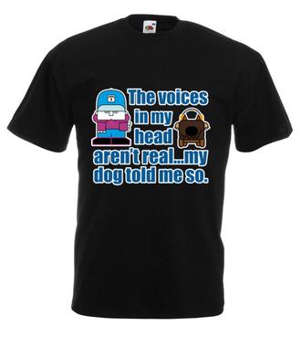 Głosy w mojej głowie - Koszulka z nadrukiem - Nasze podwórko - Męska
