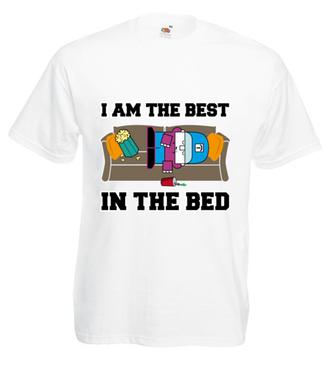 Najlepszy w łóżku - Koszulka z nadrukiem - Nasze podwórko - Męska