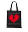 Nie pekaj ja cie kocham torba z nadrukiem na walentynki gadzety werprint 56 160