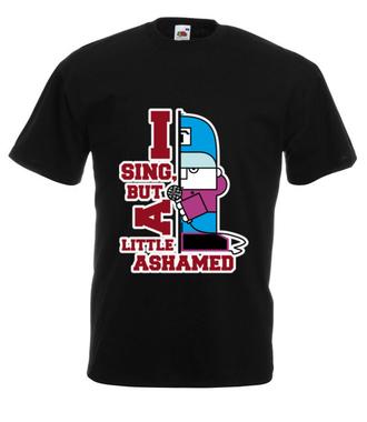 Śpiewam, ale się wstydzę - Koszulka z nadrukiem - Nasze podwórko - Męska