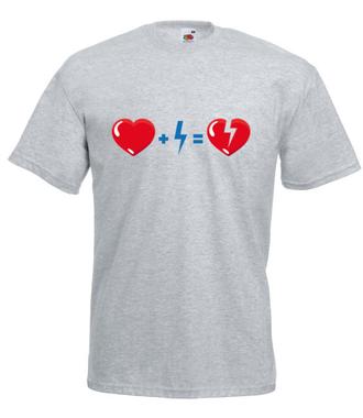 Zgoda buduje, niezgoda rujnuje - Koszulka z nadrukiem - na Walentynki - Męska