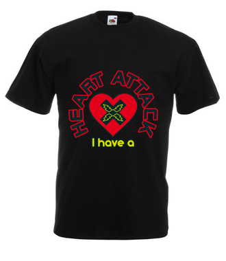Atak zranionych serc - Koszulka z nadrukiem - na Walentynki - Męska