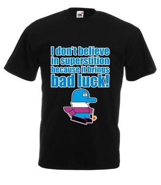 Zabobony – precz! - Koszulka z nadrukiem - Nasze podwórko - Męska