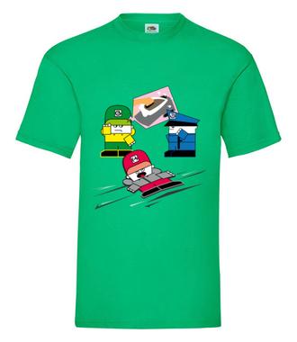 Przejechany, nie – wyprasowany! - Koszulka z nadrukiem - Nasze podwórko - Męska