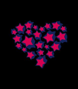 Serce uniesc do gwiazd grafika na koszulke meska 59