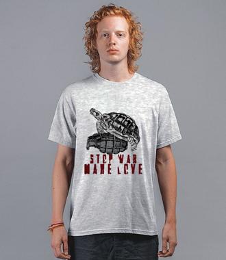 Stop wojnom, czas na miłość - Koszulka z nadrukiem - Patriotyczne - Męska