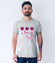 Milosna przestrzen koszulka z nadrukiem na walentynki mezczyzna werprint 60 57