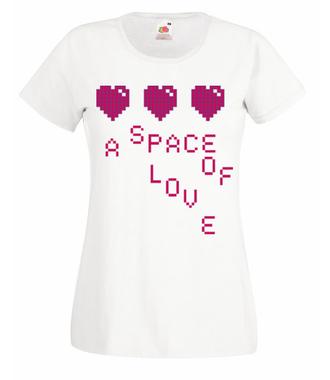 Miłosna przestrzeń - Koszulka z nadrukiem - na Walentynki - Damska
