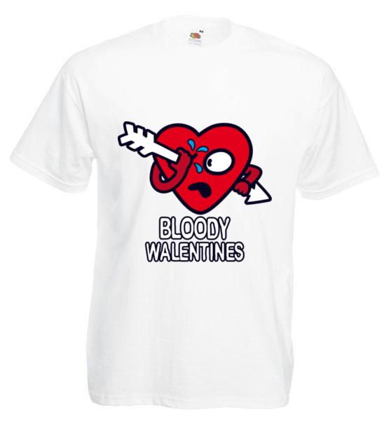Krwawe walentynki koszulka z nadrukiem na walentynki mezczyzna werprint 61 2
