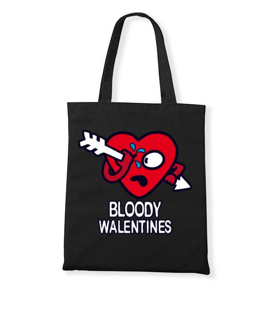 Krwawe walentynki torba z nadrukiem na walentynki gadzety werprint 61 160