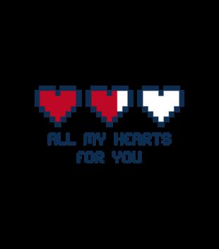 Wszystkie moje serca sa dla ciebie grafika na koszulke meska 62
