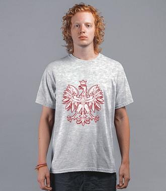 Z orłem na piersi - Koszulka z nadrukiem - Patriotyczne - Męska