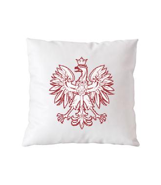 Z orłem na piersi - Poduszka z nadrukiem - Patriotyczne - Gadżety