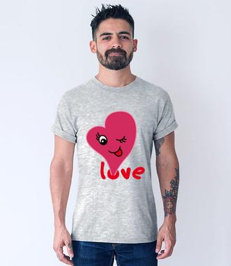 Miłość wisi w powietrzu - Koszulka z nadrukiem - na Walentynki - Męska