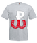 Bialy i czerwony barwy niezwyciezone koszulka z nadrukiem patriotyczne mezczyzna werprint 301 6
