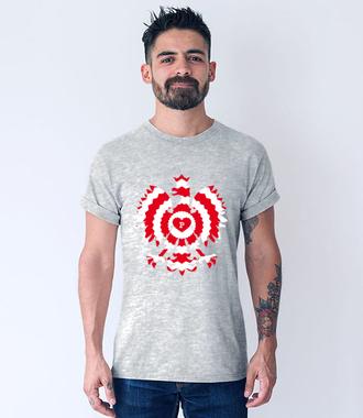 Z biało-czerwonym orłem - Koszulka z nadrukiem - Patriotyczne - Męska