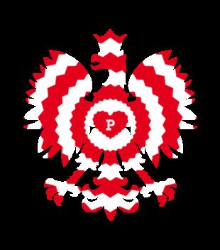 Z bialo czerwonym orlem grafika na koszulke damska 303