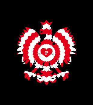 Z bialo czerwonym orlem grafika na bluze z kapturem meska 303