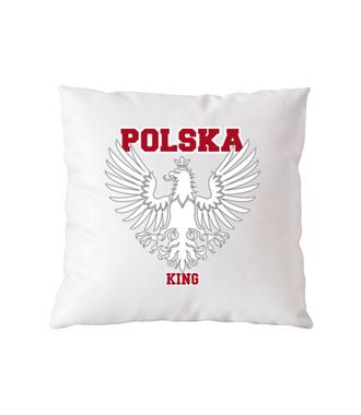 Polska królem, Polska górą! - Poduszka z nadrukiem - Patriotyczne - Gadżety