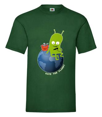 Ratuj swoją planetę - Koszulka z nadrukiem - Patriotyczne - Męska