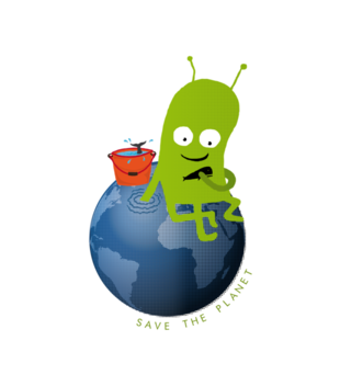 Ratuj swoja planete grafika na koszulke damska 321