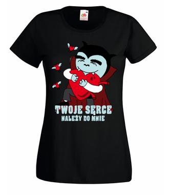 Twoje serce należy do mnie - Koszulka z nadrukiem - na Walentynki - Damska