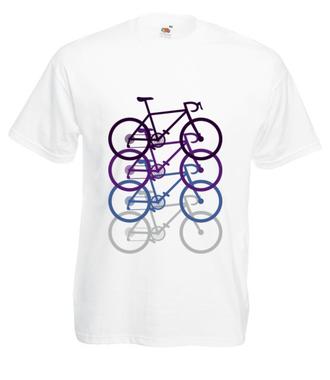 Rowerowy kwartecik - Koszulka z nadrukiem - Sport - Męska