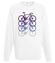 Rowerowy kwartecik bluza z nadrukiem sport mezczyzna werprint 337 106
