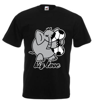 Wielka miłość… do sportu - Koszulka z nadrukiem - Sport - Męska