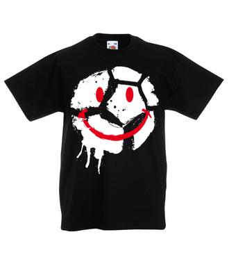 Uśmiech tylko, gdy piłka w grze - Koszulka z nadrukiem - Sport - Dziecięca