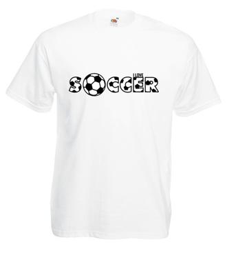 Piłka nożna – to kocham - Koszulka z nadrukiem - Sport - Męska