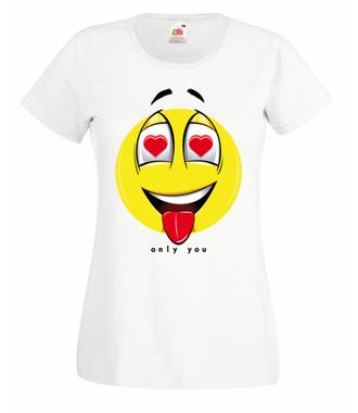 Tylko Ty - bez Ciebie nic! - Koszulka z nadrukiem - na Walentynki - Damska