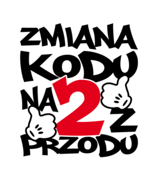 Zmiana kodu na 2 z przodu grafika na koszulke damska 76