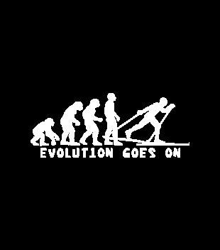 Ewolucja narty gora grafika na koszulke meska 364